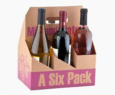 six pack wine, beer bottle carrier