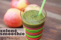 Smoothie No zelené smoothie s jablkem a banánem Smoothie Detox, Cantaloupe, Fruit, Drinks, Blog, Drinking, Beverages, Drink, Blogging