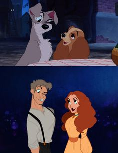Si les animaux des films Disney étaient des êtres humains La Belle et le Clochard (Clochard et Lady) http://www.goldenmoustache.com/si-les-animaux-des-films-disney-etaient-des-etres-humains-131359/