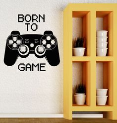 Wall Decal Video Game Funny Gamer PC Computer Joystick Vinyl Decal (ig2752) #Wallstickers4you