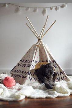 tipi chat,cat tipi,décoration boheme,un tipi chez soi,decoration tipi,home