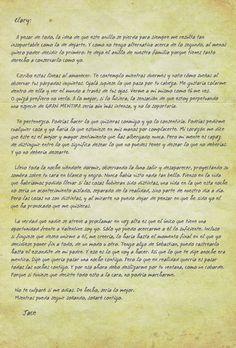 carta de Jace a Clary, cazadores de sombras