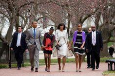 Obama family on Easter Sunday. Lovely