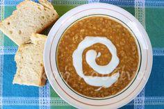 μικρή κουζίνα: Κόκκινες φακές σούπα με τζίντζερ και κύμινο Hummus, Ethnic Recipes, Food, Essen, Yemek, Meals