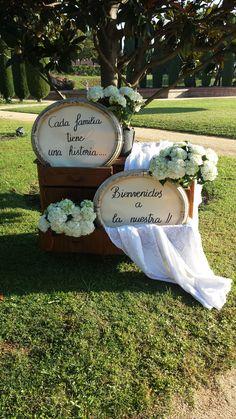 Bienvenida en el Castell de Sant Marçal-Barcelona www.bodas-eventos-celebraciones.com