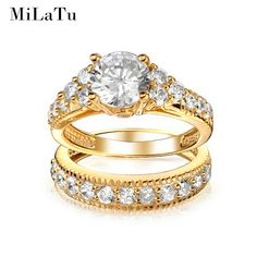 MiLaTu Luxury Bridal Wedding Ring Sets Gold Plated CZ Diamond-jewelry Engagement Ring Set For Women Best Christmas Gift R168TJ //Price: $US $15.27 & FREE Shipping //           HOT FASHION PRODUCT       USD 8.99/pieceUSD 9.47/pairUSD 7.98/pieceUSD 14.89/pieceUSD 15.87/pieceUSD 9.99/pieceUSD 20.37/pieceUSD 12.70/piece            PRODUCT INFORMATION      BRAND: MiLaTu      MODEL NUMBER: R168TJ      MAIN STIONE: AAA Zirconia      CONDITION: 100% Brand-new excellent craft      PACKAGE CONTENT…