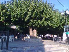 Kanalia Volou.The central square of the village
