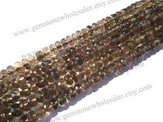 Andalusite Faceted Roundel Quality AAA / 4.5 by GemstoneWholesaler