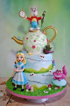Alice in Wonderland cake . by LenkaSweetDreams