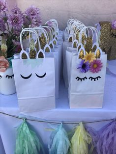 Unicorn party bags for girls and boys