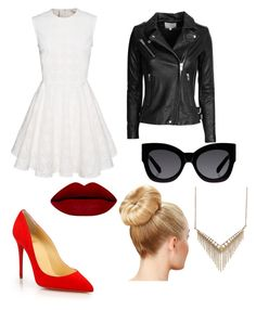 """""""Untitled #2"""" by alexandrademian ❤ liked on Polyvore featuring Mode, Christian Louboutin, Karen Walker, IRO und Melinda Maria"""