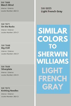 Sherwin Williams Light French Gray SW 0055 -The Perfect Gray? - West Magnolia Charm Check out some gray paint colors extremely similar to Sherwin Williams Light French Gray SW