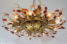 Italiaanse plafonniere 25831 bij Van der Lans Antiek. Meer antieke lampen op www.lansantiek.com