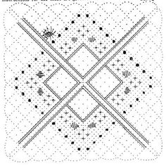 "Torchon Mat by Janice Cole click on ""Archive"" http://www.lacemakers-circle.org.uk/pattern.htm"