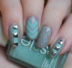 Mielenmaisemia - Shimmer and mint Nailart, Mint, Beauty, Beauty Illustration, Peppermint