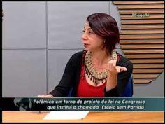 """Professora comenta projeto sobre """"Escola sem Partido"""" - (22/8/16)"""