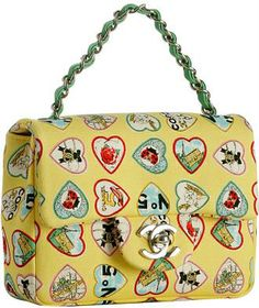 Chanel Heart Print Baguette handbag in yellow multi print New Handbags, Burberry Handbags, Chanel Handbags, Purses And Handbags, Designer Handbags, Cheap Handbags, Mademoiselle Coco Chanel, Channel Bags, Moda Chanel