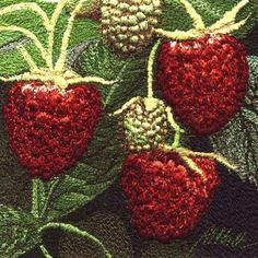 Raspberries by Alison Holt  An exquisite  thread painting artist