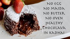 For this Valentine's Day, I present you this gorgeous Eggless Choco Lava Cake that you can easily make at home without oven. This molten lava cake is perfect. Valentine Special, Valentines, Choco Lava, Look And Cook, Molten Lava Cakes, Eggless Baking, Cake Recipes, Oven, Dishes