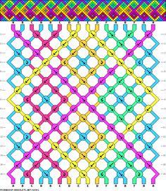 16 strings, 16 rows, 6 colors