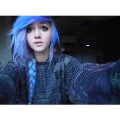 red alternative hair Tumblr ❤ liked on Polyvore featuring hair, beauty, girls, hairstyles and people Goth Make Up, Emo Scene Hair, Scene Girl Hair, Hair Color Purple, Hair Colors, Emo Hair Color, Teal Hair, Lilac Hair, Bright Hair