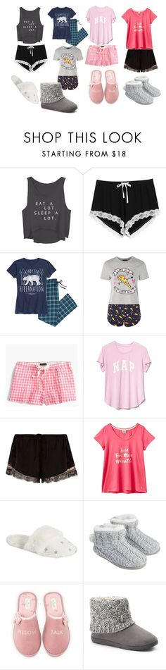 """""""Girl's Night"""" by haschaklover ❤ liked on Polyvore featuring Topshop, J.Crew, Gap, River Island, Joules, PBteen, Accessorize, Kate Spade and SONOMA Goods for Life"""