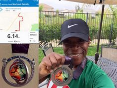 """Spotlight Runner - Vickie, """"I love to reward myself after a run. And USRR has the best medals to date for virtual runs. Happy National Running Day!"""" http://usroadrunning.com"""