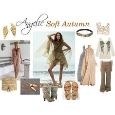 Angelic Soft Autumn by expressingyourtruth on Polyvore featuring Roberto Cavalli, XCVI, American Eagle Outfitters, DimeCity, Skemo, Carolee, Bernard Delettrez and Topshop