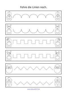 Nachfahr exercises for Easter descend fine motor skills … – Prescholl Ideas Pre Writing Practice, Writing Skills, Tracing Worksheets, Preschool Worksheets, Kindergarten Portfolio, Dyscalculia, Small Words, Kids Education, Fine Motor Skills