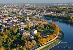 Jesienny widok na Kazimierz i Podgórze