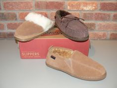 Find cozy slippers for both him and her at Red Wing Shoes. $50-65