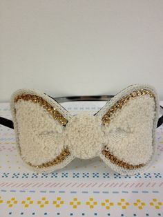 Items similar to Terry Cloth Bow Alice Band / White Purple Big Ribbon Gold Glitter Hairband Headband Headpiece Sporty Cute Special Accessory on Etsy Alice Band, How To Make Bows, Hair Band, Gold Glitter, Ribbons, Headpiece, Slippers, Sporty, Purple