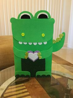 For this Valentines Day I wanted to create a box for my classroom. I originally wanted a Owl themed boxed, but since I had already made o. Dinosaur Valentines, Kinder Valentines, Valentine Day Boxes, Valentines For Boys, Valentines Day Party, Valentine Day Crafts, Valentine Decorations, Valentine Ideas, Printable Valentine