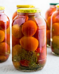 Canned Tomatoes Recipe; the European way. These taste just like Mom's! | NatashasKitchen.com