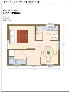 "252 sq ft. Do away with ""bedroom"" and wall. Move kitchen to back wall and make entry single door to get back usable space. Make space by door the living area with fold out bed."