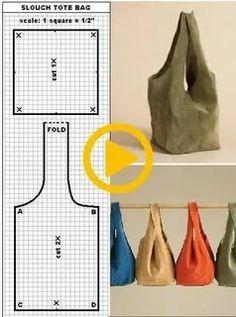 Bag Pattern Free, Bag Patterns To Sew, Sewing Patterns Free, Sewing Hacks, Sewing Tutorials, Sewing Crafts, Sewing Projects, Japanese Knot Bag, Diy Handbag