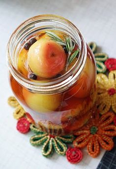 Slow Roasted Crabapples (also Pickled, and in Chutney!) - Dinner With Julie Dinner With Julie Slow Roasted Crabapples (also Pickled, and in Chutney!) - Dinner With Julie Crab Apple Recipes, Pesto Dip, Fruit Preserves, Pickle Relish, Chutney Recipes, Food N, Recipe Collection, Fruits And Veggies, Fall Recipes