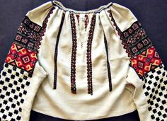 Ukrainian embroidered blouse from Bukovina Ukrainian Museum of Canada… Traditional Fashion, Traditional Dresses, Shirt Embroidery, Folk Embroidery, Embroidered Blouse, Folk Fashion, Womens Fashion, Ukrainian Dress, Ethnic Outfits