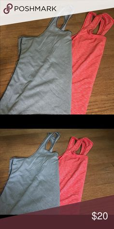2 Zella Workout Tanks Great workout shirts //too big for me so they must work! Zella Tops Muscle Tees