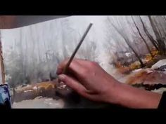 Hedwig's Art watercolor Landscape, misty in the forrest - YouTube