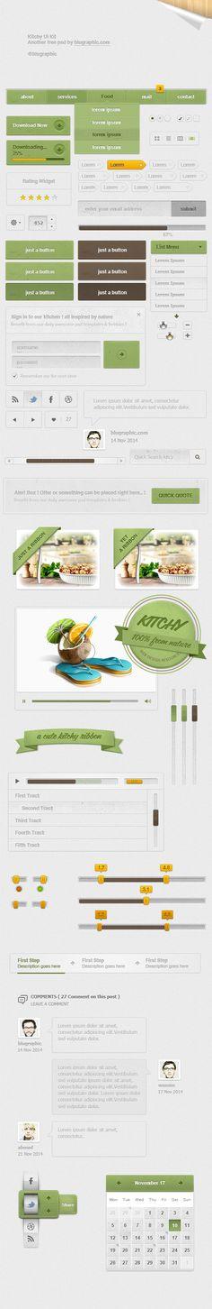 Kitchy Mega Ui Kit - psd theme