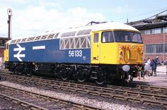 """New build 56133 is seen at Crewe Works on the June 1984 prior to the unveiling of its """"CREWE LOCOMOTIVE WORKS"""" nameplates. nameplates were removed in February 2000 and the loco has been in store since February Electric Locomotive, Diesel Locomotive, Heritage Railway, Train Room, British Rail, New Builds, Trains, Grid, February"""