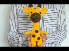 Free amigurumi pattern by Olga Askarova. Diy Crochet Toys, Crochet Fish, Crochet Dinosaur, Crochet Ball, Crochet Crafts, Crochet Giraffe Pattern, Amigurumi Doll Pattern, Crochet Amigurumi Free Patterns, Crochet Simple