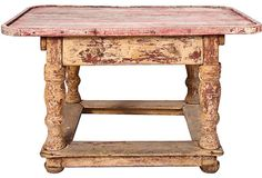 1840s Swedish Painted Coffee Table ~ I love the finish on this piece.