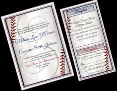 Baseball Wedding Invitation Sports Wedding by yourdayinvites, $2.75