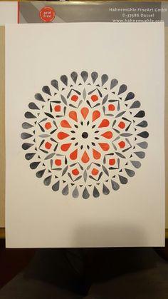 Acuarela José Cárdenas Watercolor Mandala, Mandala Painting, Mandala Drawing, Watercolor Pattern, Watercolor Paintings, Gouache Painting, Watercolours, Mandala Doodle, Mandala Art Lesson