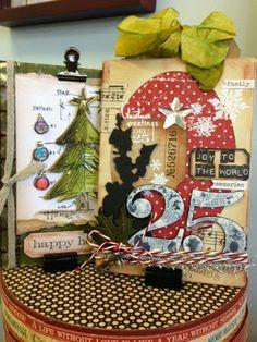 Scrapdoodles: Tim Holtz Christmas Cards!
