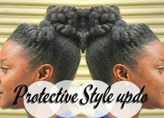 Natural Hair : Easy Protective Style w/ Marley hair