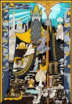 Ilustraciones de Jian Guo De El Señor de Los Anillos