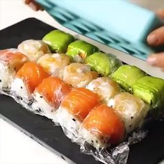 Food Discover Amazing ice cube tray recipesYou can find Sushi recipes and more on our website. Seafood Recipes, Appetizer Recipes, Cooking Recipes, Skewer Appetizers, Beef Recipes, Chicken Recipes, Dinner Recipes, Sushi Roll Recipes, Sushi Stacks Recipe